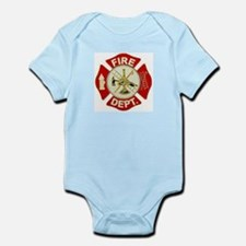 FD Symbol Red and Gold Body Suit