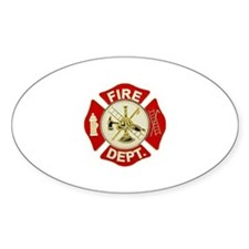 FD Symbol Red and Gold Decal
