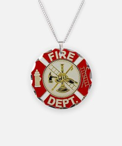 FD Symbol Red and Gold Necklace