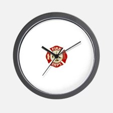 FD Symbol Red and Gold Wall Clock