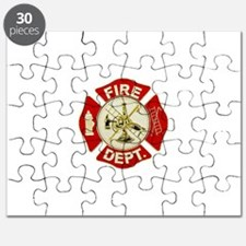 FD Symbol Red and Gold Puzzle