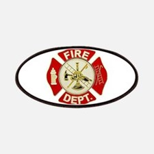 FD Symbol Red and Gold Patch