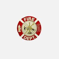 FD Symbol Red and Gold Mini Button