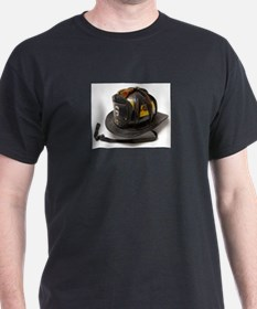 Old Leather Fire Helmet T-Shirt