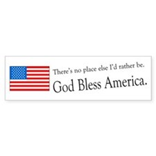 God Bless America Bumper Bumper Sticker
