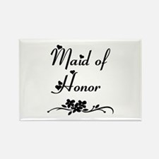 Classic Maid of Honor Rectangle Magnet