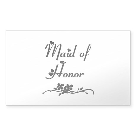 Classic Maid of Honor Sticker (Rectangle)