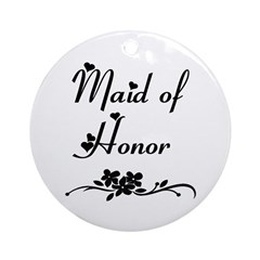 Classic Maid of Honor Ornament (Round)