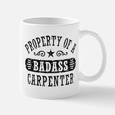 Property of a Badass Carpenter Small Small Mug