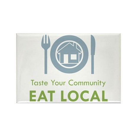 Taste Local Rectangle Magnet