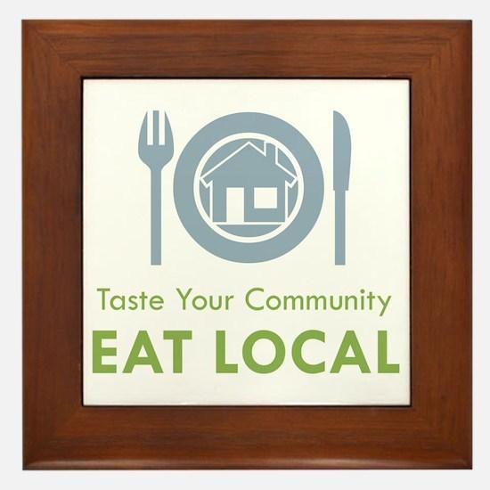 Taste Local Framed Tile