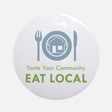 Taste Local Ornament (Round)