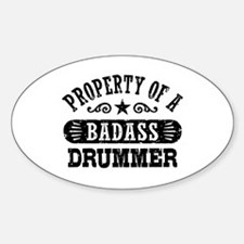 Property of a Badass Drummer Decal