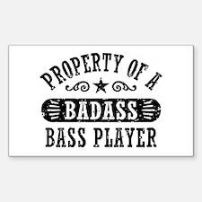 Property of a Badass Bass Play Sticker (Rectangle)