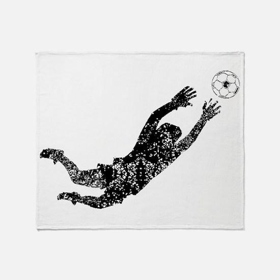 Vintage Soccer Goalie Throw Blanket