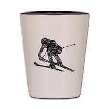 Vintage Ski Racer Shot Glass