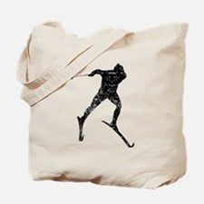 Vintage Cross Country Skier Tote Bag
