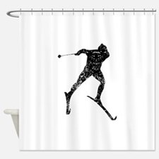 Vintage Cross Country Skier Shower Curtain