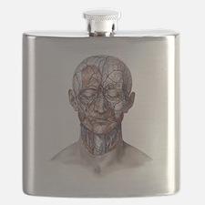 Human Anatomy Face Flask