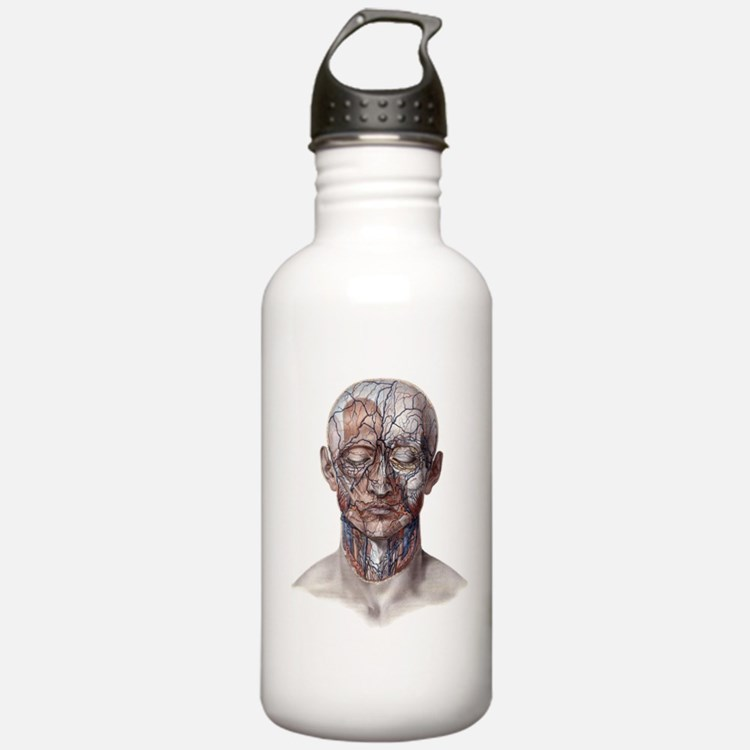 Human Anatomy Face Water Bottle