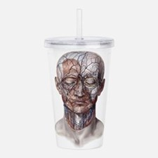 Human Anatomy Face Acrylic Double-wall Tumbler