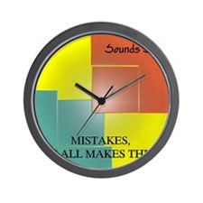 Mistakes EP Cover Wall Clock