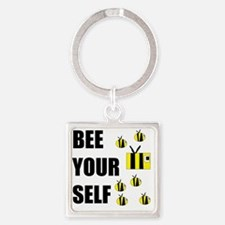 Bee Your Self Square Keychain