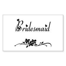 Classic Bridesmaid Rectangle Decal