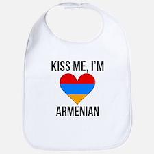 Kiss Me Im Armenian Bib