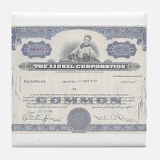 Lionel stock certificate Tile Coaster