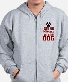 Don't need therapy/DOG Zip Hoodie