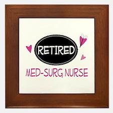 Retired Med-Surg Nurse Framed Tile