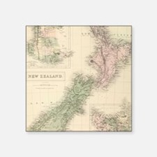 Vintage Map of New Zealand (1854) Sticker