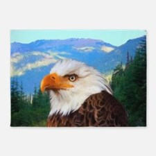 Bald Eagle 5'x7'Area Rug