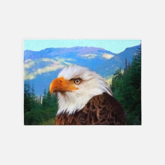 Bald Eagle 5'x7'Area Rug