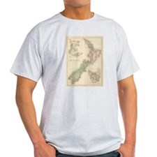 Vintage Map of New Zea T-Shirt