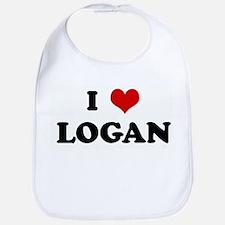 I Love LOGAN Bib