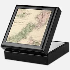 Vintage Map of New Zealand (1854) Keepsake Box