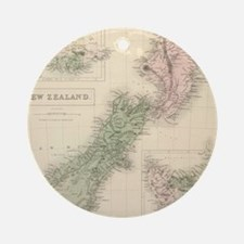 Vintage Map of New Zealand (1854) Ornament (Round)