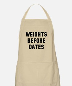 Weights before dates Apron