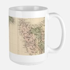 Vintage Map of New Zealand (1854) Mugs