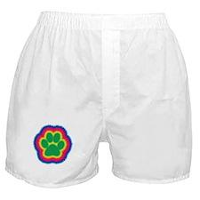 Tye Dye Paw Print Boxer Shorts