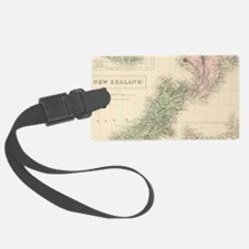 Vintage Map of New Zealand (1854 Luggage Tag
