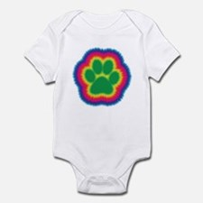 Tye Dye Paw Print Infant Bodysuit