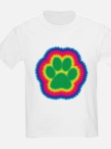 Tye Dye Paw Print T-Shirt
