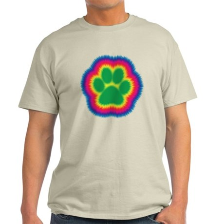 Tye Dye Paw Print Light T-Shirt