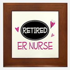 Retired ER Nurse Framed Tile