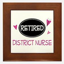 Retired District Nurse Framed Tile