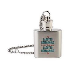 Lagotto Romagnolo Flask Necklace