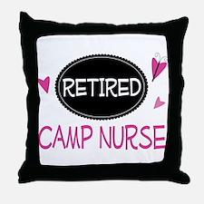 Retired Camp Nurse Throw Pillow